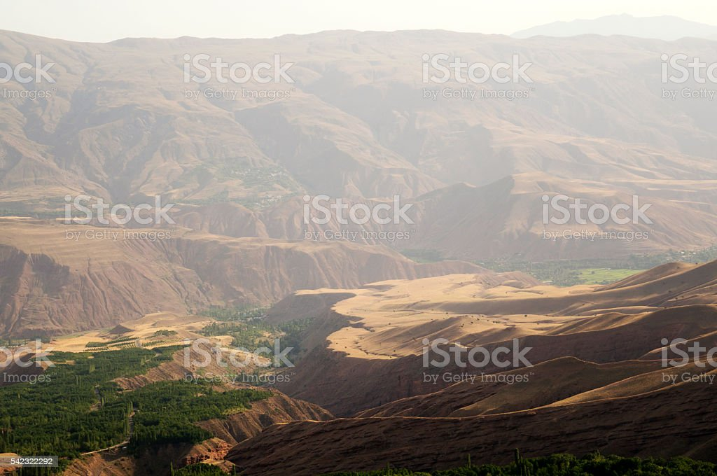 View from Alamut, Castle of the Assassins, Iran stock photo
