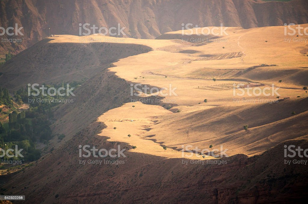 View from Alamut, Castle of the Assassins stock photo