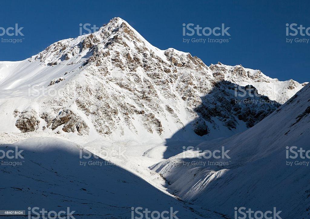 View from Alay Mountain - Kyrgyzstan stock photo