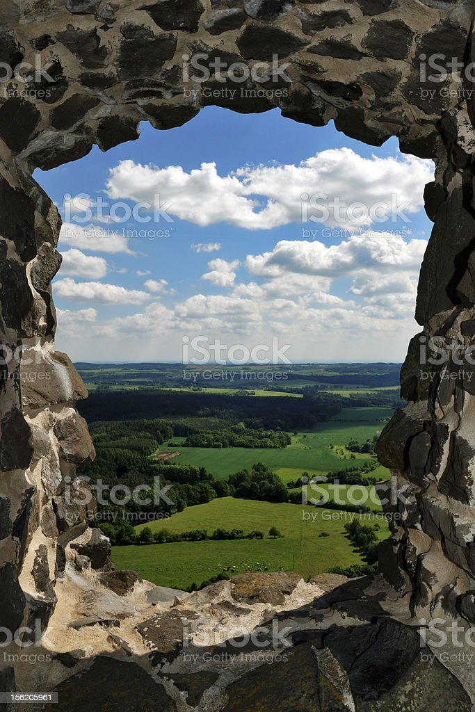 View from an old Czech Castle royalty-free stock photo