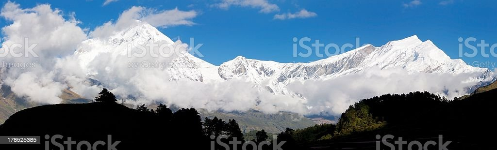 view from annapurna himal to dhaulagiri royalty-free stock photo