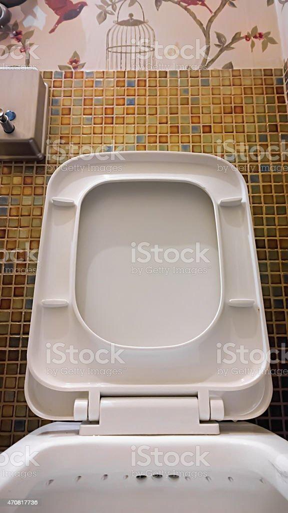 Vista de toalete artística foto royalty-free