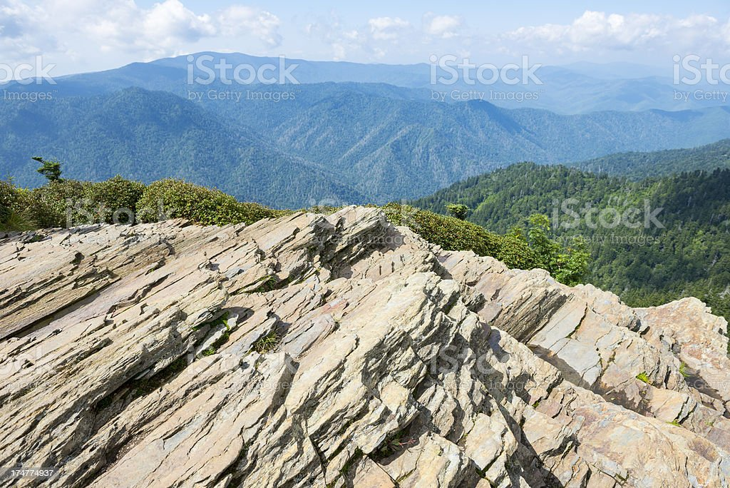 Mount LeConte viewpoint in Smoky Mountains stock photo