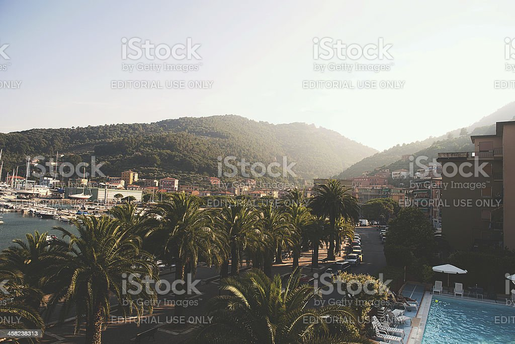 View from balcony in le grazie italy royalty-free stock photo