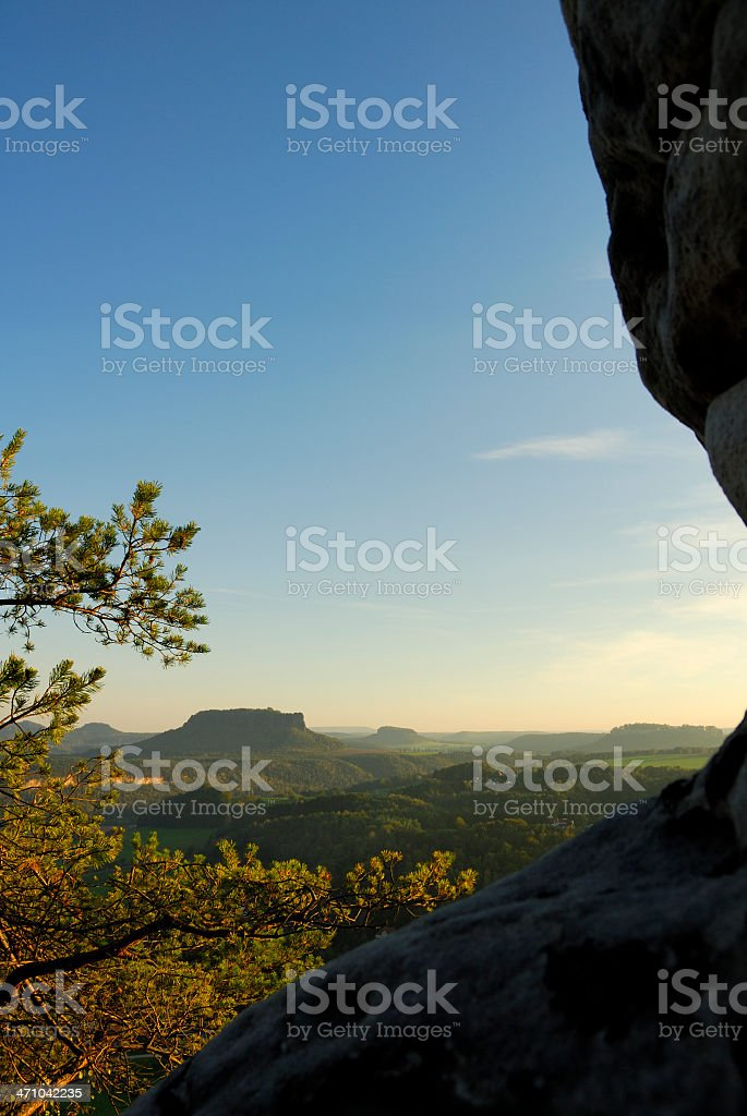 View from 'Bastei' in german national park royalty-free stock photo