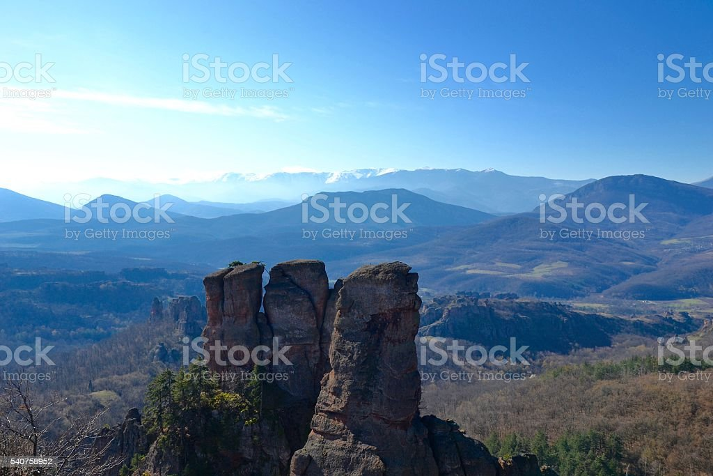View from Belogradchik stock photo
