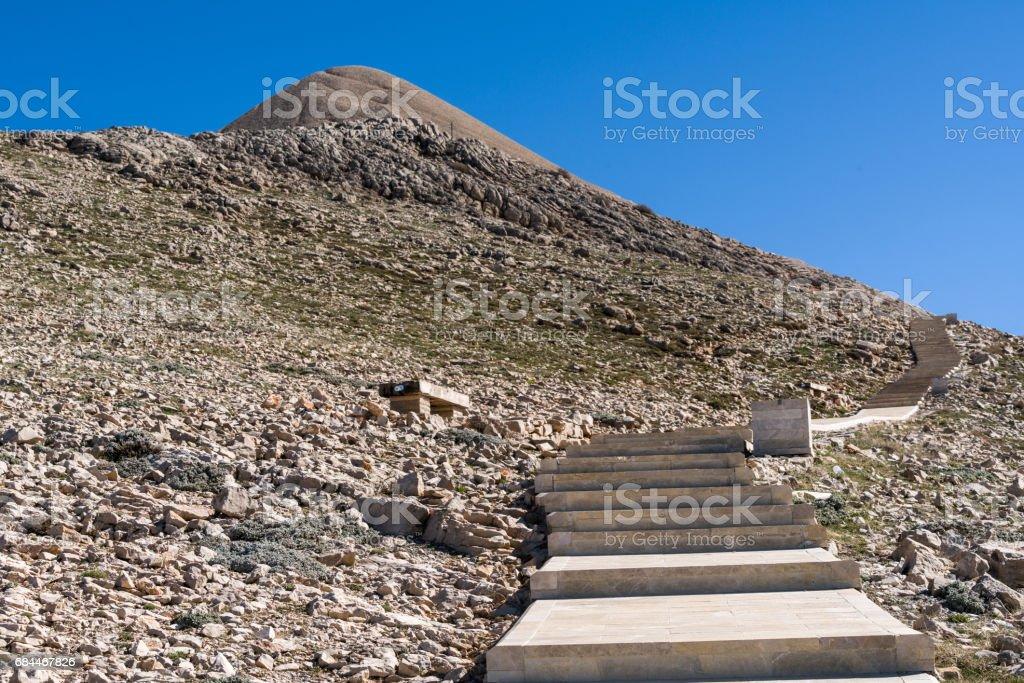 View from below Nemrud mountain stock photo