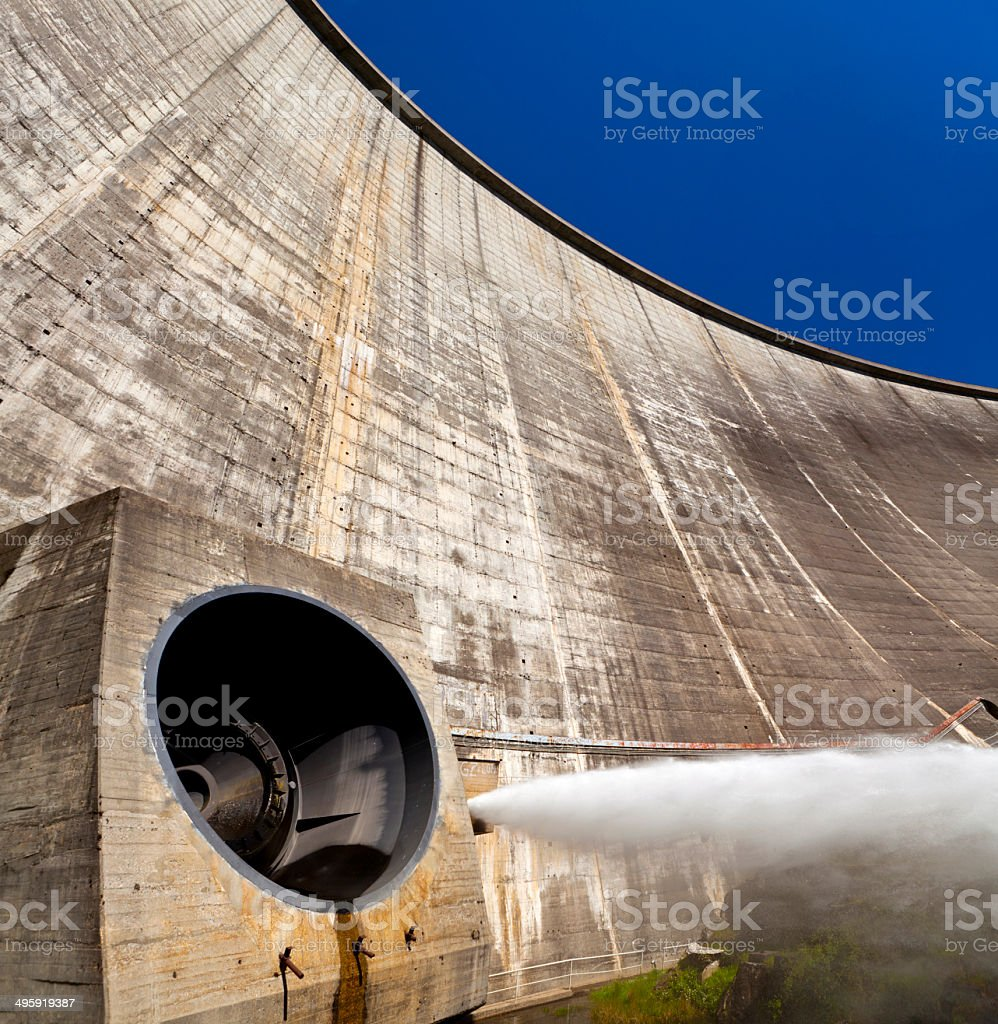 View From Below of a Dam stock photo