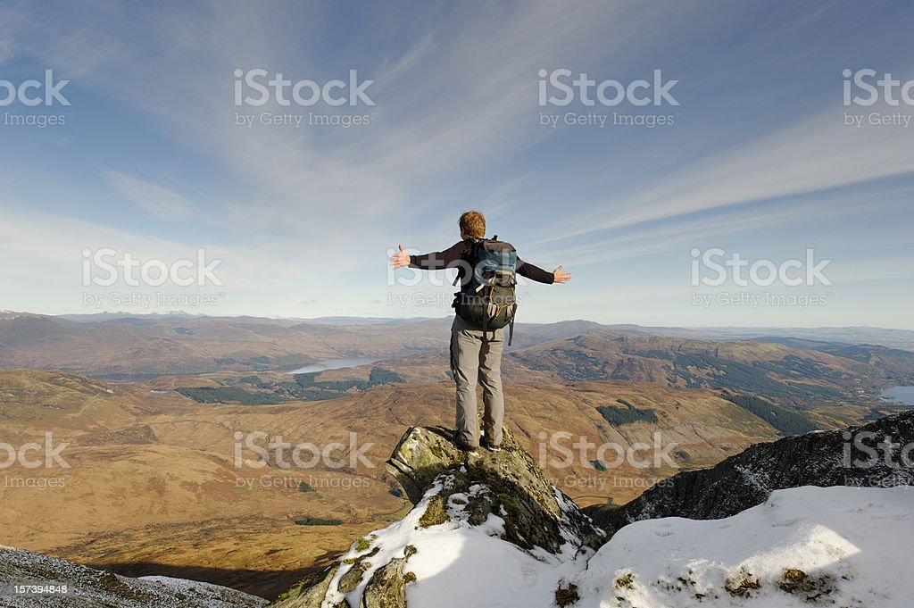 View from Ben Lomond royalty-free stock photo