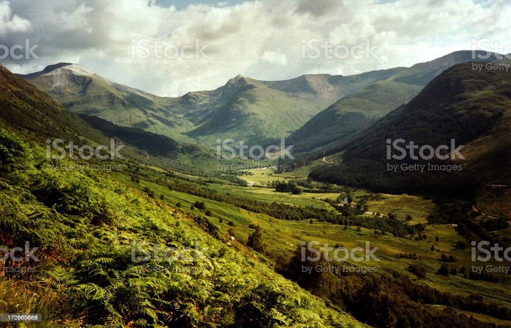 view from Ben Nevis stock photo