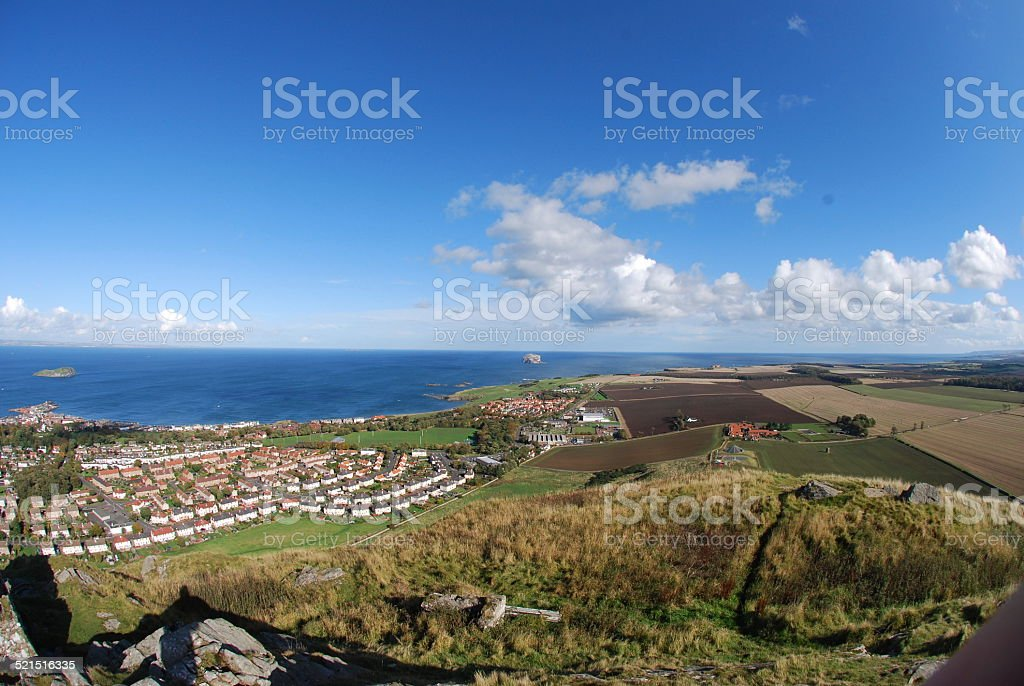 View from Berwick Law stock photo