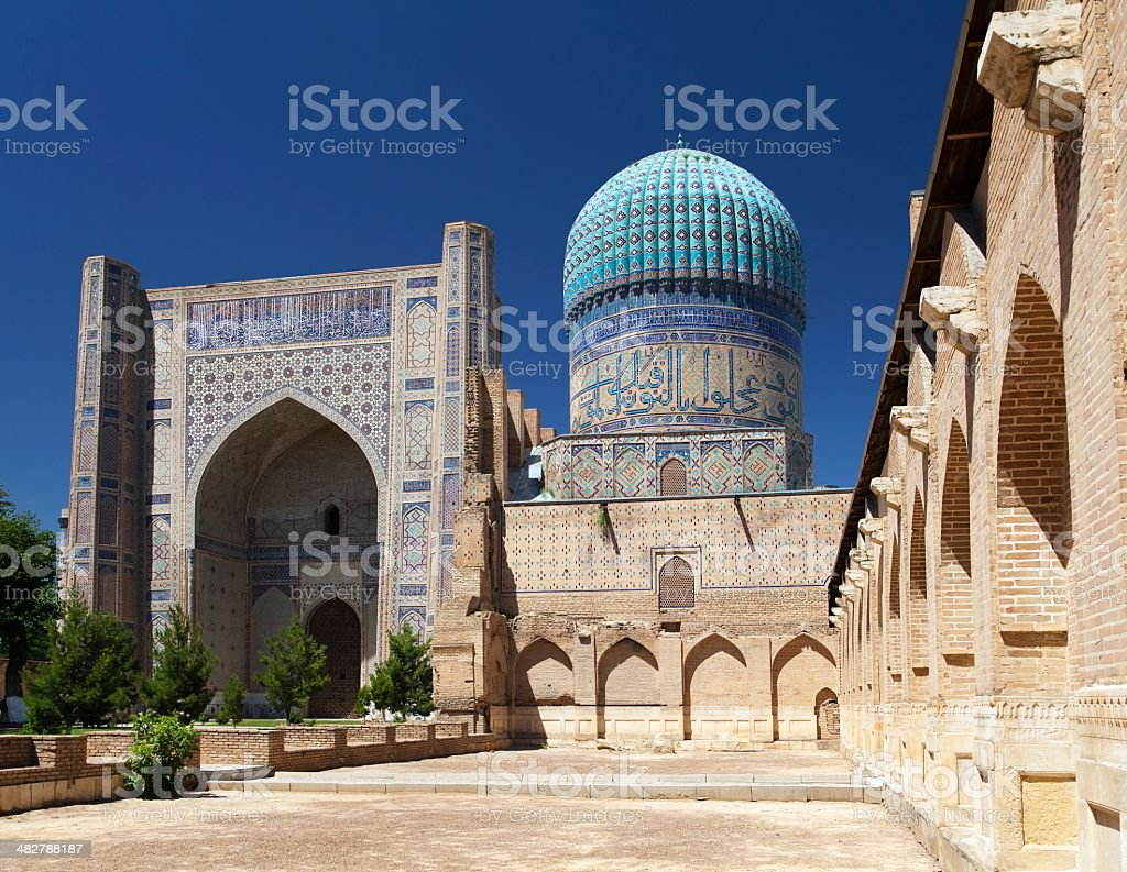 View from Bibi-Khanym mosque - Registan - Samarkand - Uzbekistan stock photo