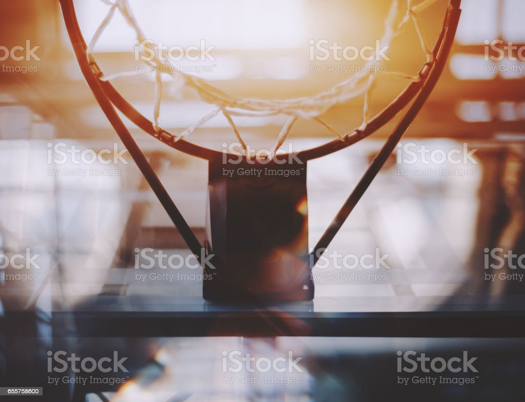 view from bottom of basketball hoop stock photo 655758600 istock