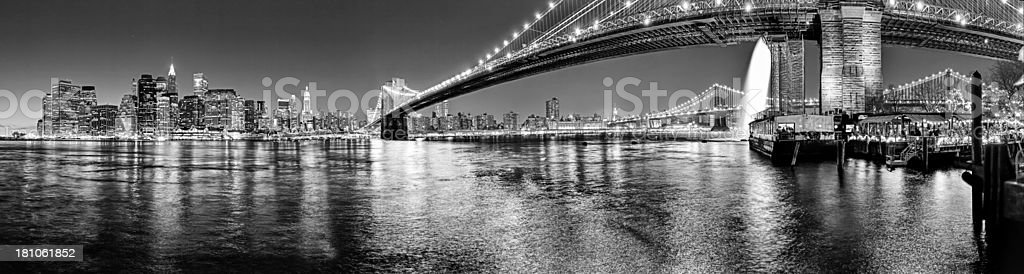 view from brooklyn to manhattan by night royalty-free stock photo