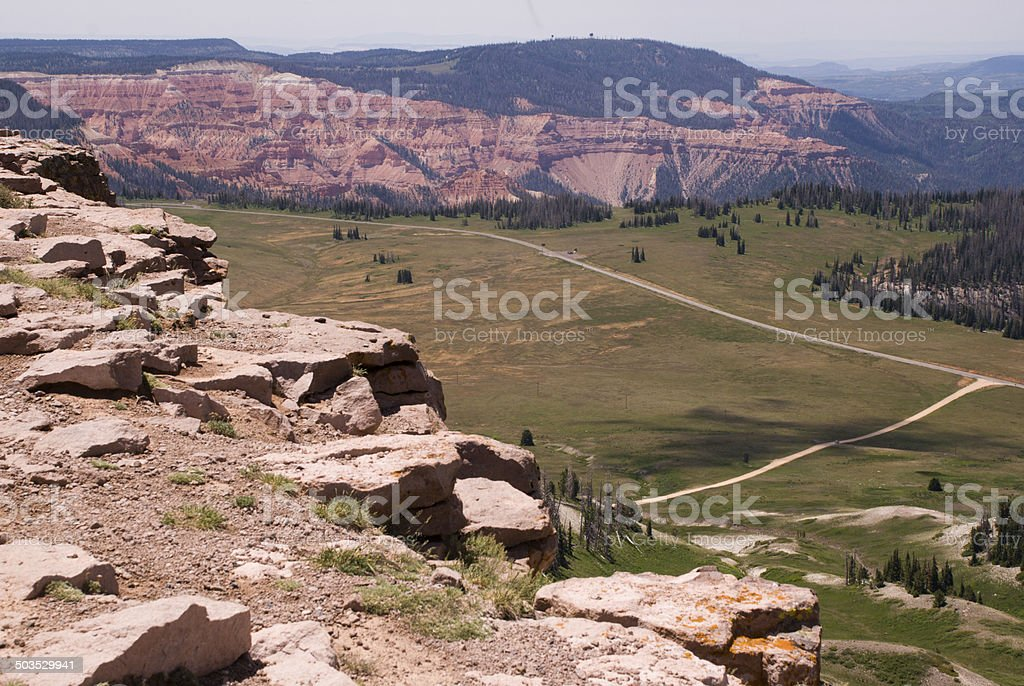 View from Bryan Head Peak Cedar Breaks National Monument Utah stock photo