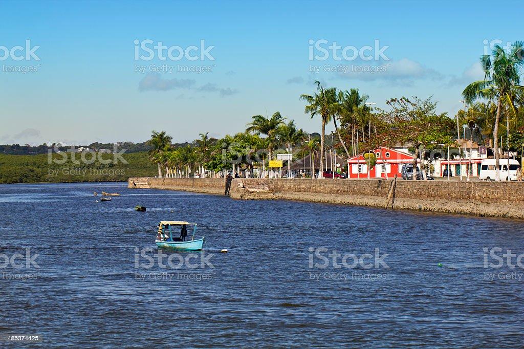 View from Buranhem river stock photo