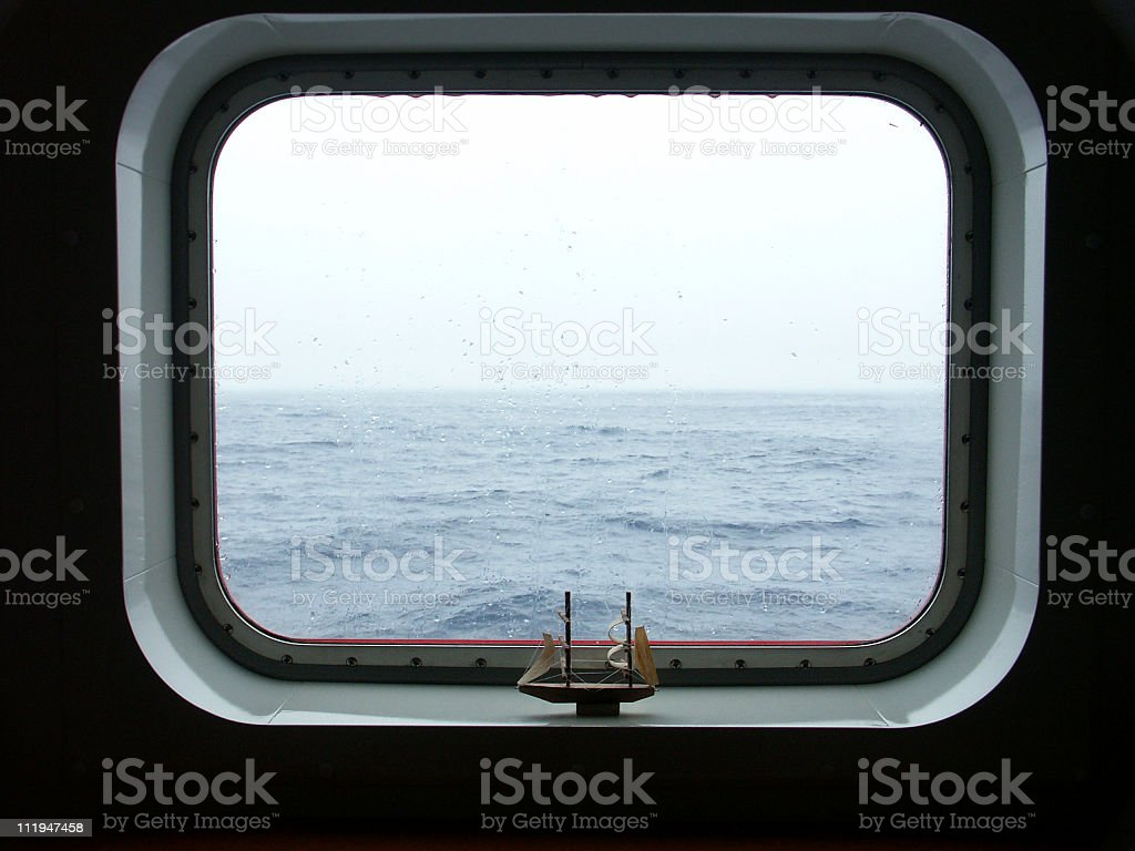 View from cabin on the famous Drake Passage royalty-free stock photo