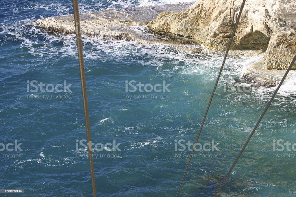 View from Cable Car at  RoshHaNikra stock photo