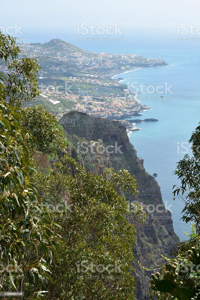 View from Cabo Girao in Madeira, Portugal stock photo