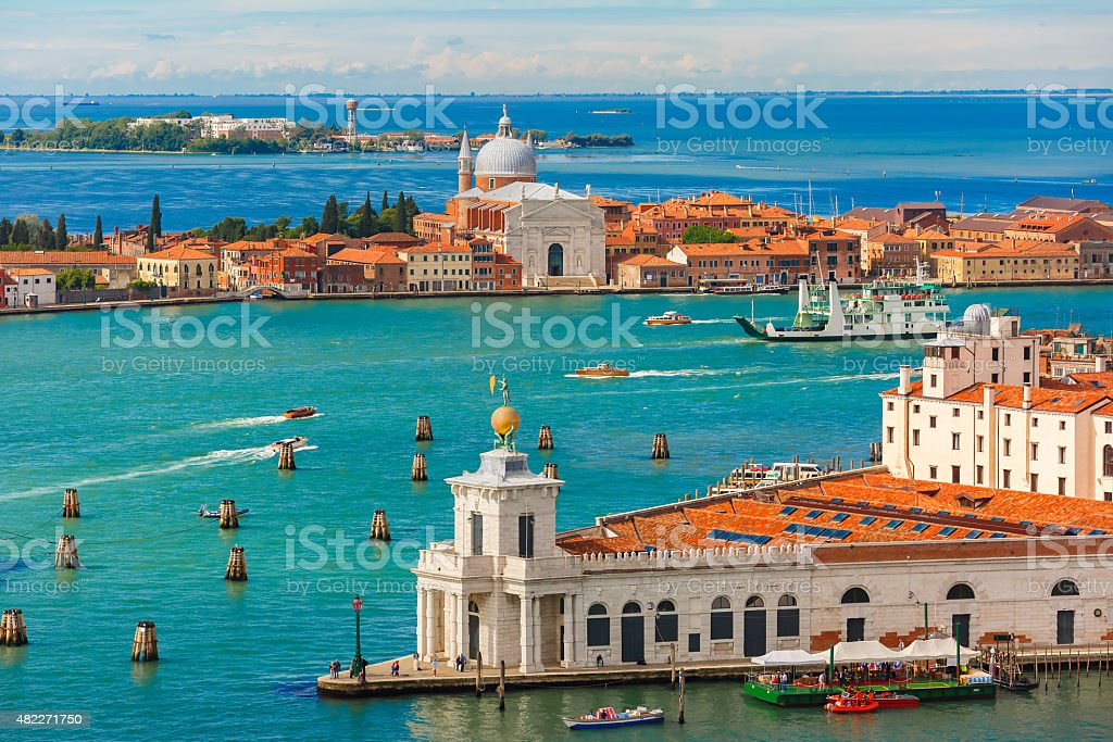 View from Campanile di San Marco to Venice, Italy stock photo