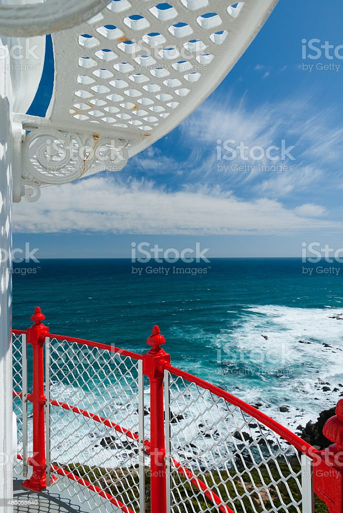 View from Cape Otway lighthouse stock photo
