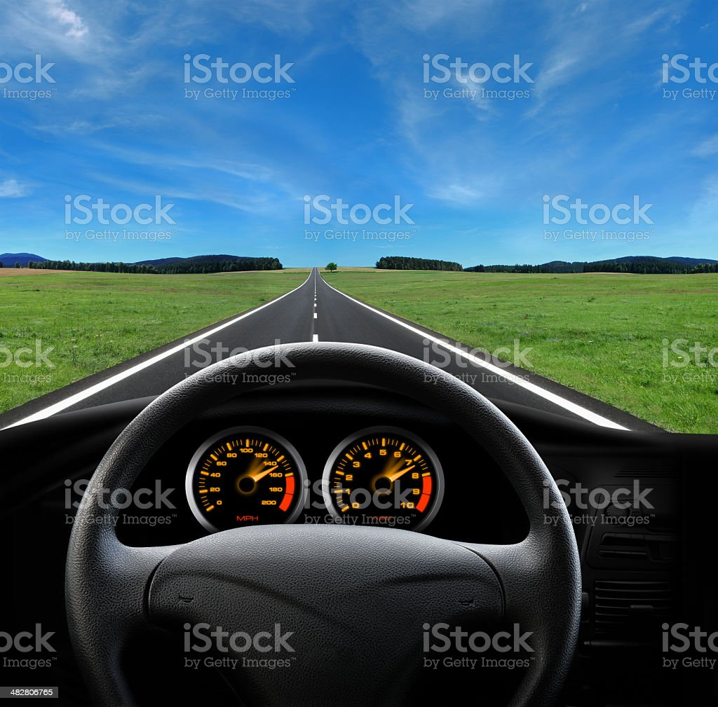 View From Car Cabin royalty-free stock photo