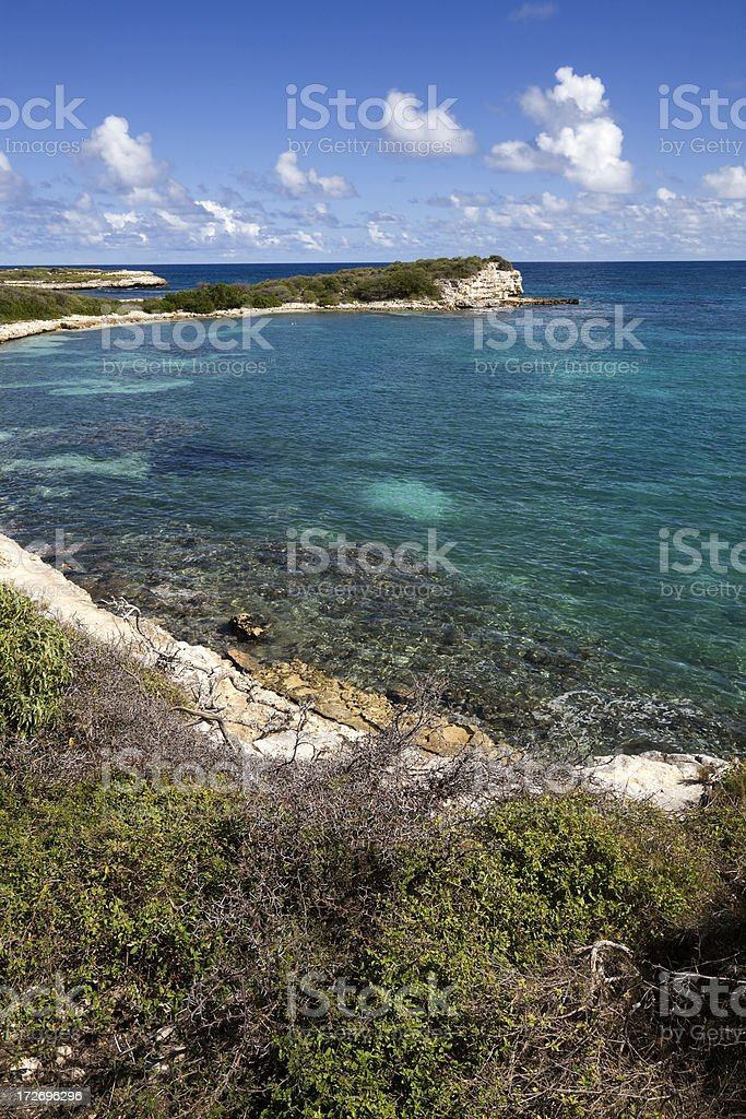 View from Caribbean Cliff royalty-free stock photo