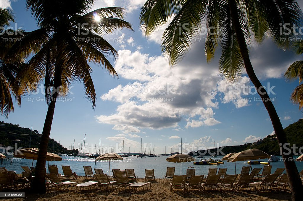 View from Carribean Beach royalty-free stock photo