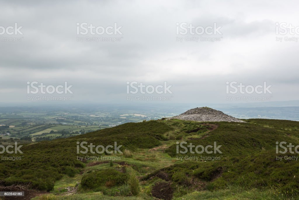 View from Carrowkeel megalithic graveyard stock photo