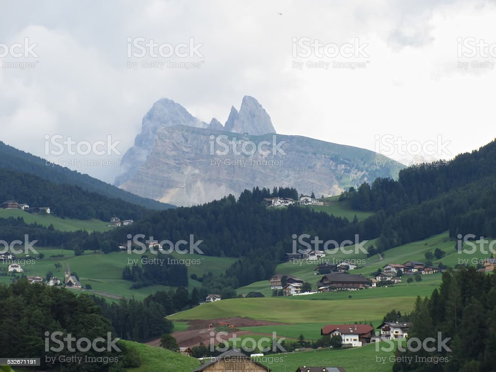 View from Castelrotto stock photo