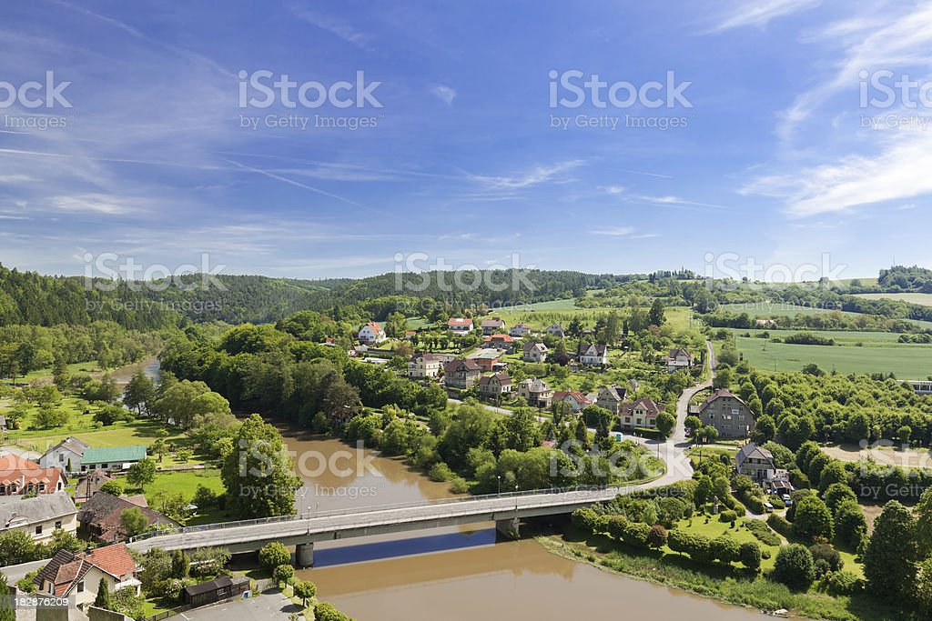 View from castle Cesky Stenberg royalty-free stock photo