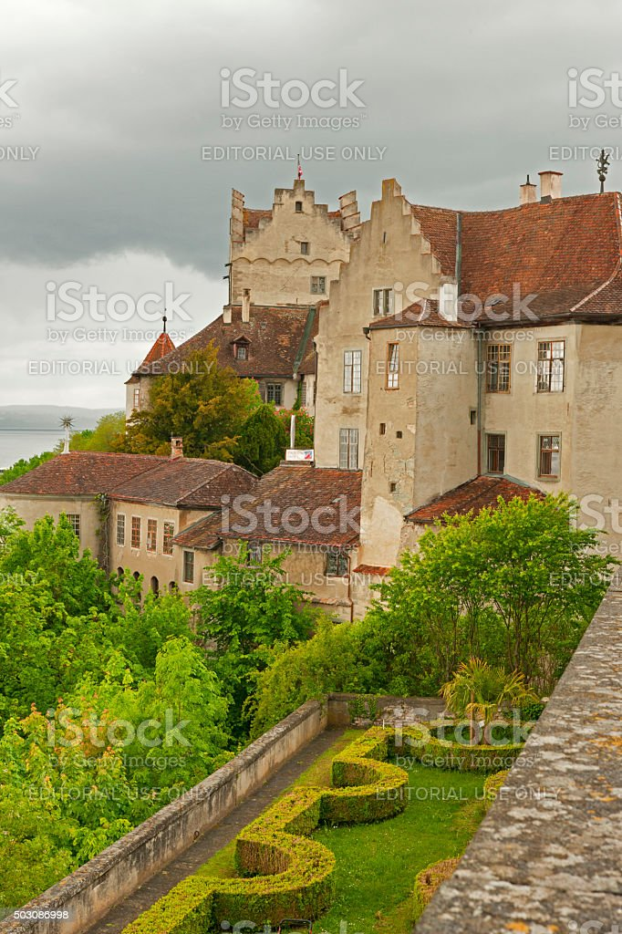 View from castle Meersburg stock photo