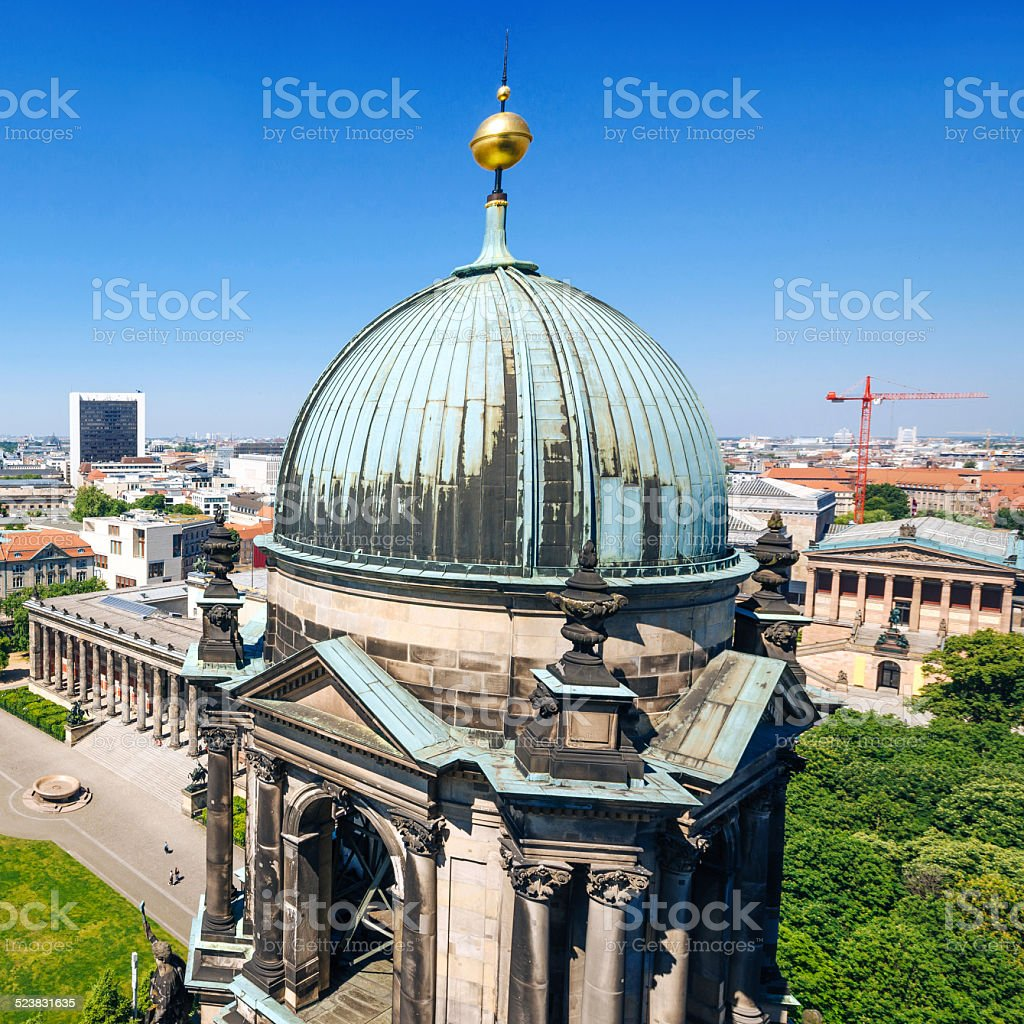 View from cathedral of Berlin, Germany stock photo