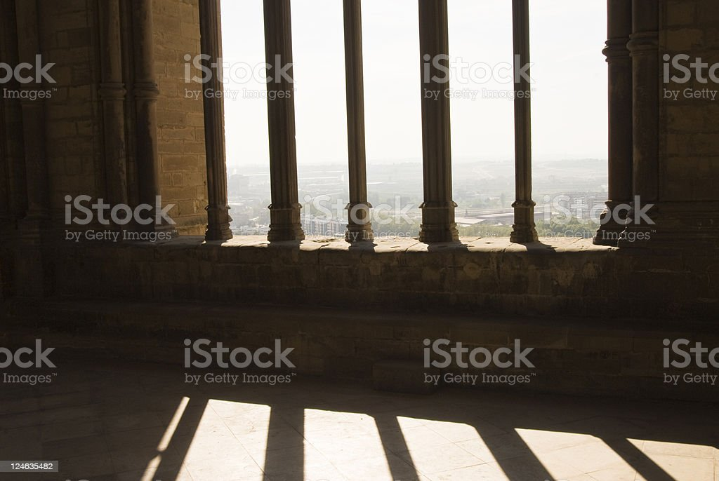 View from Cathedral of La Seu Vella. stock photo