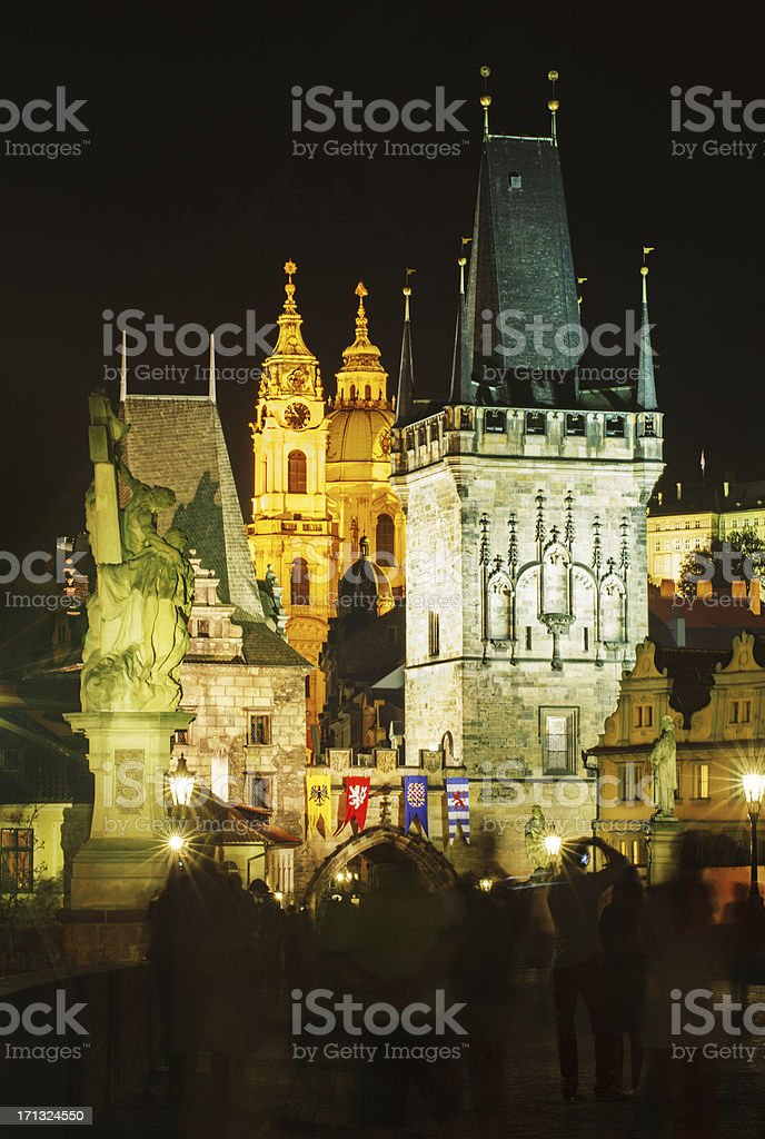 View from Charles Bridge in Prague royalty-free stock photo