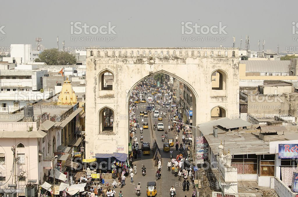 View from Charminar Tower stock photo