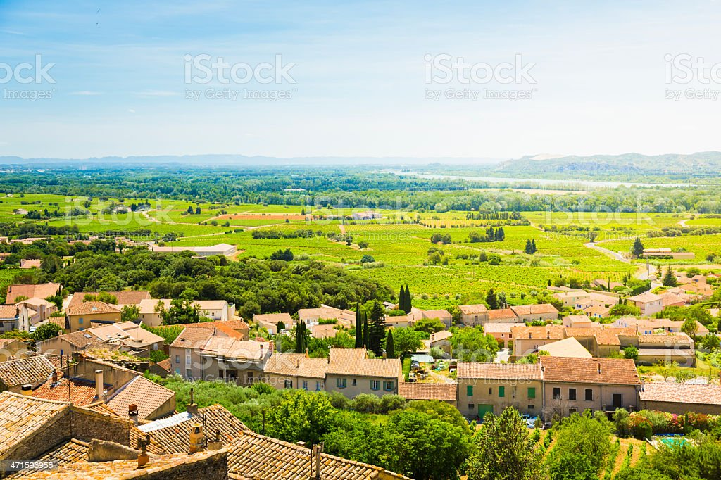 View from Chateauneuf-du-Pape stock photo