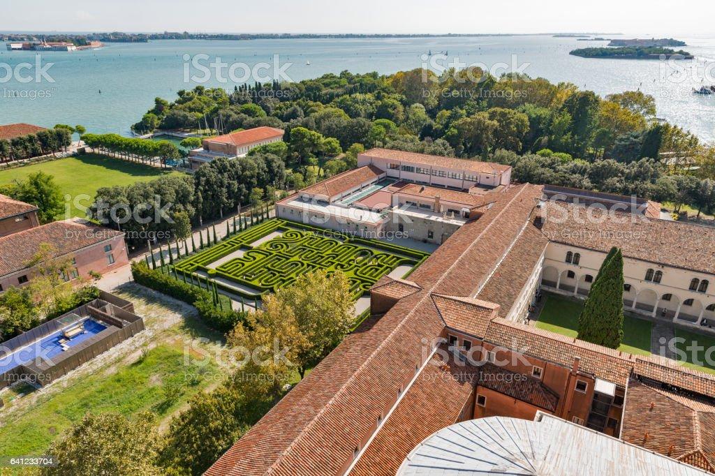 View from Church of San Giorgio Maggiore in Venice, Italy. stock photo