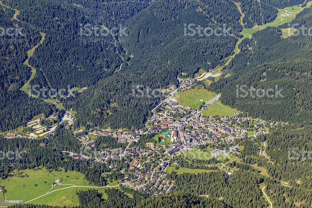 View from Cima Rosetta, Italy royalty-free stock photo