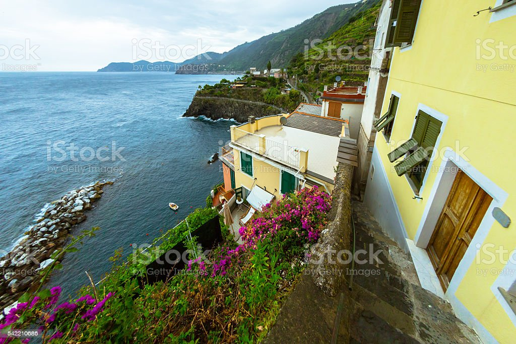 View from Cinque Terre stock photo