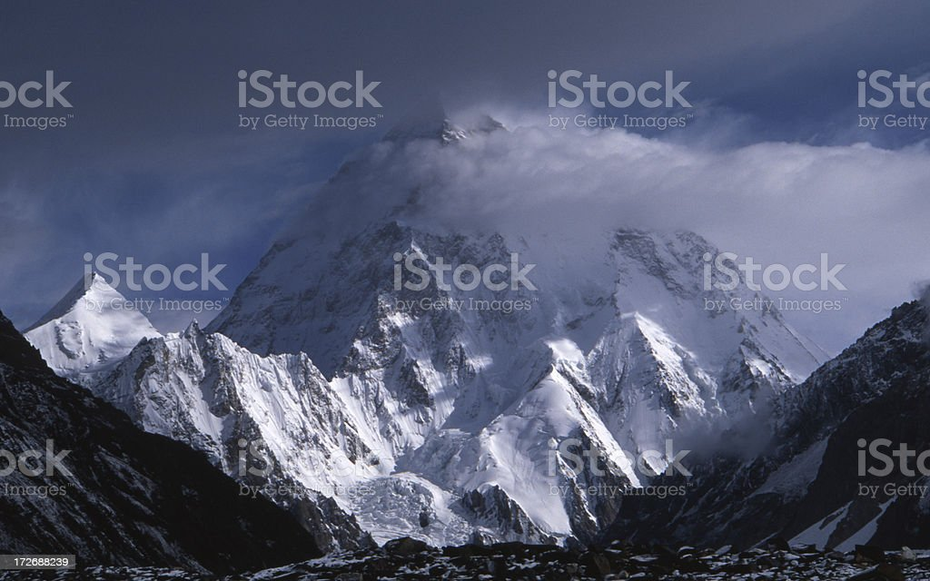 K2, view from Concordia royalty-free stock photo