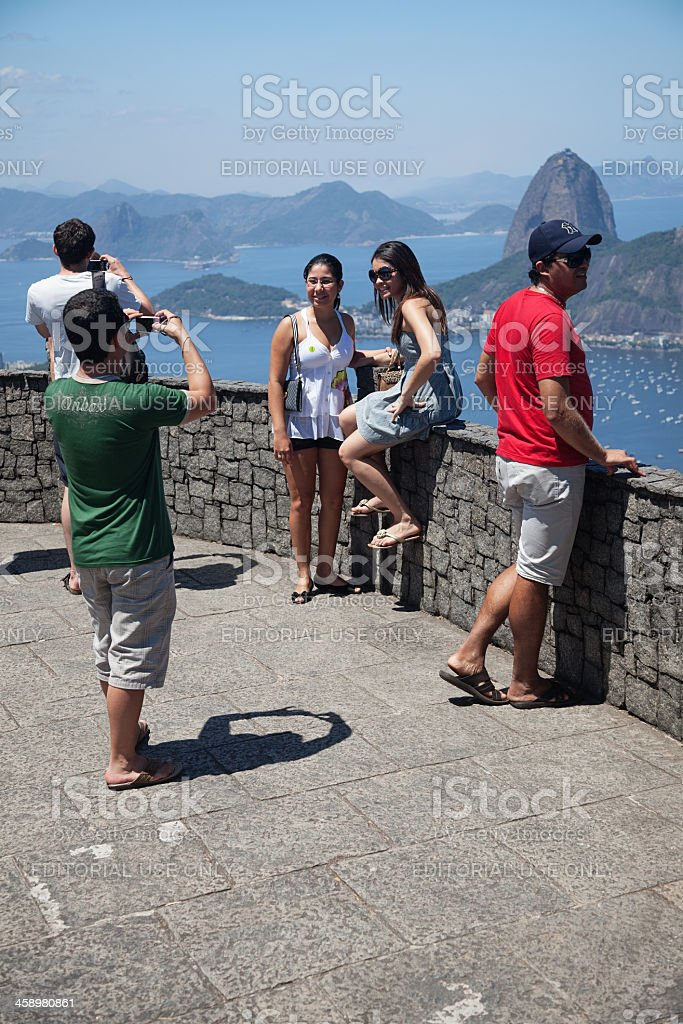 View from Corcovado Mountain royalty-free stock photo