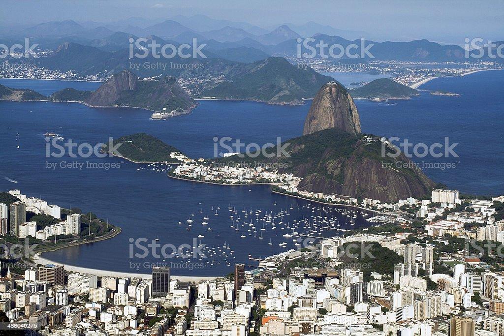 View from Corcovado Mountain, Rio de Janeiro, Brazil. royalty-free stock photo