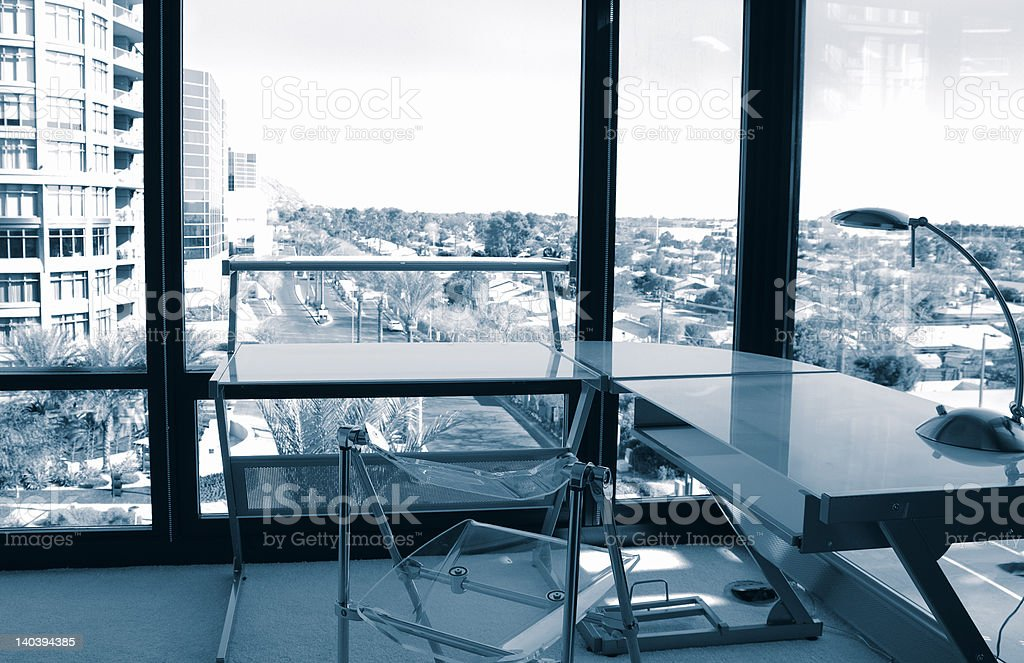 View from Corner Office stock photo