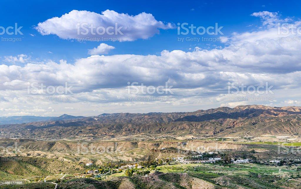 View from Cortijo Cabrera stock photo