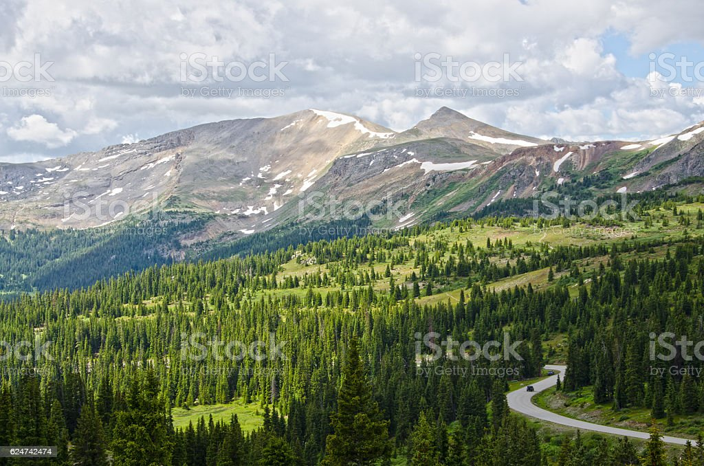 View from Cottonwood Pass stock photo