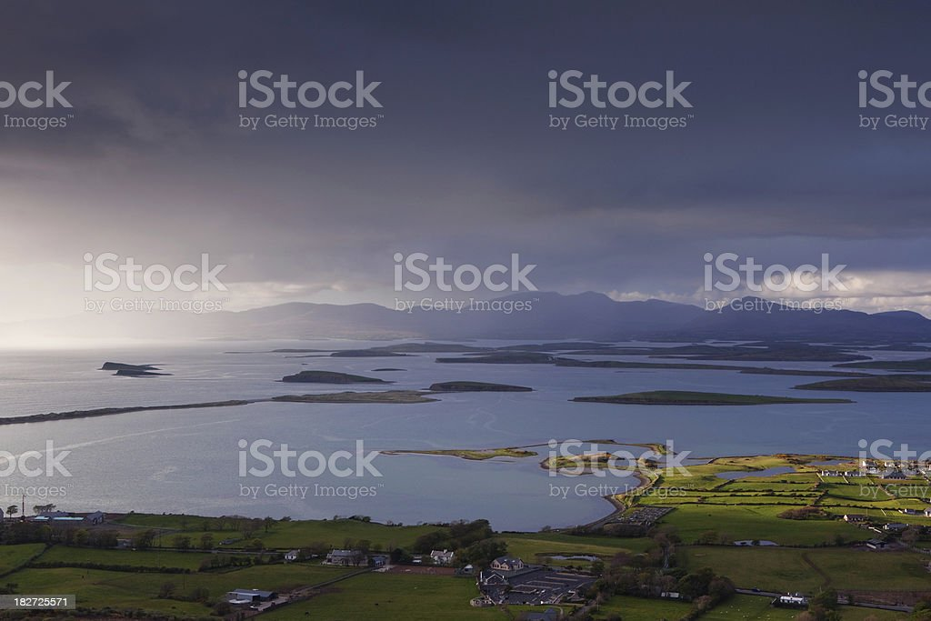 view from Crough Patrick stock photo