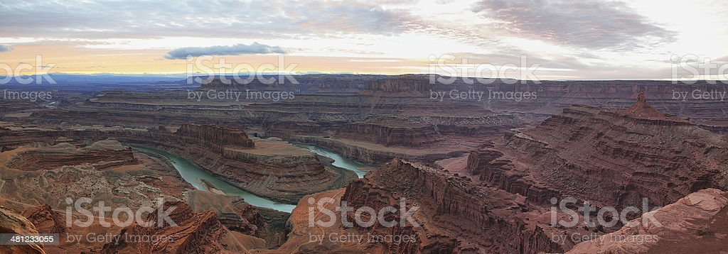View from Dead Horse Point of the Colorado River stock photo