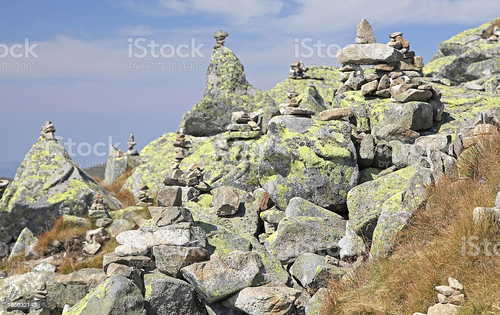 View from Derese - Low Tatras, Slovakia royalty-free stock photo