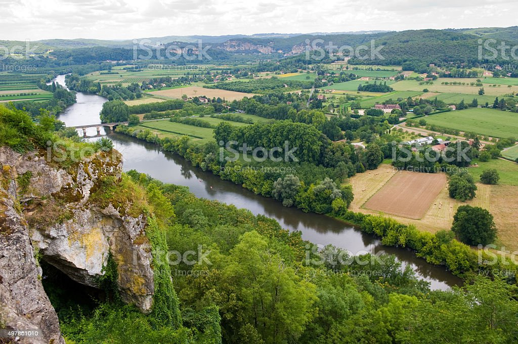 View from Domme stock photo